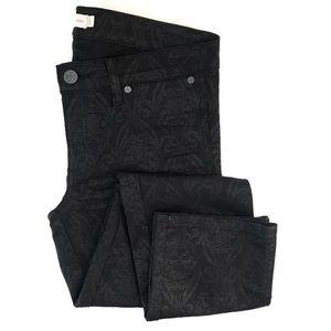 Tory Burch Black Honour Flat Front Skinny Jeans 27